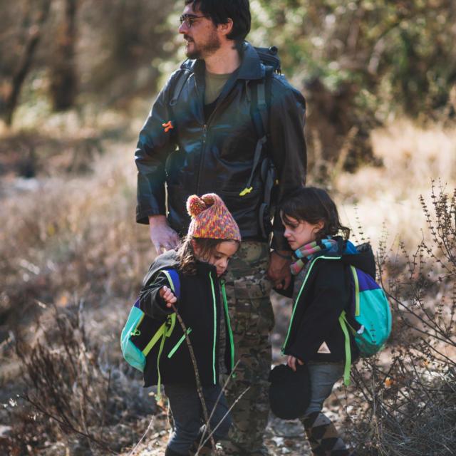 Famille en randonnée