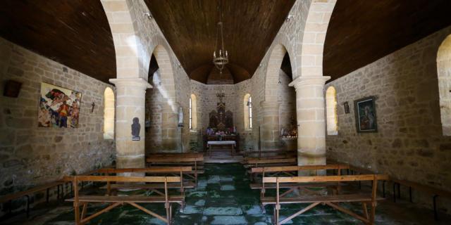 L'Intérieur de la chapelle Nougein