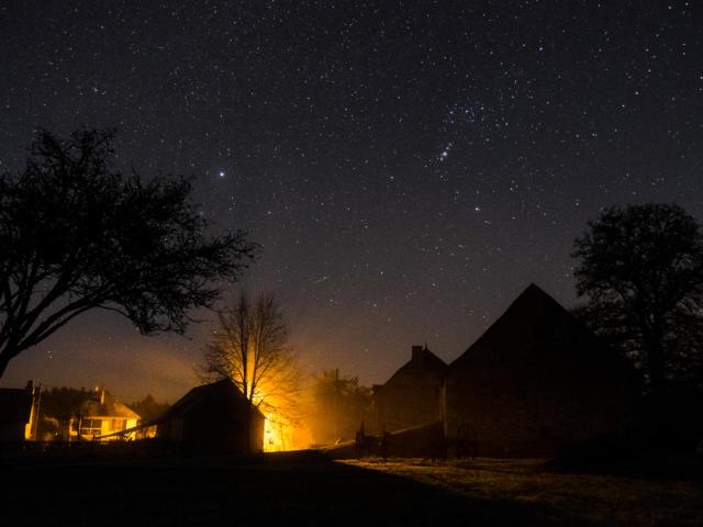 Nuit étoilée à Faugeras, lieu dit de Lapleau