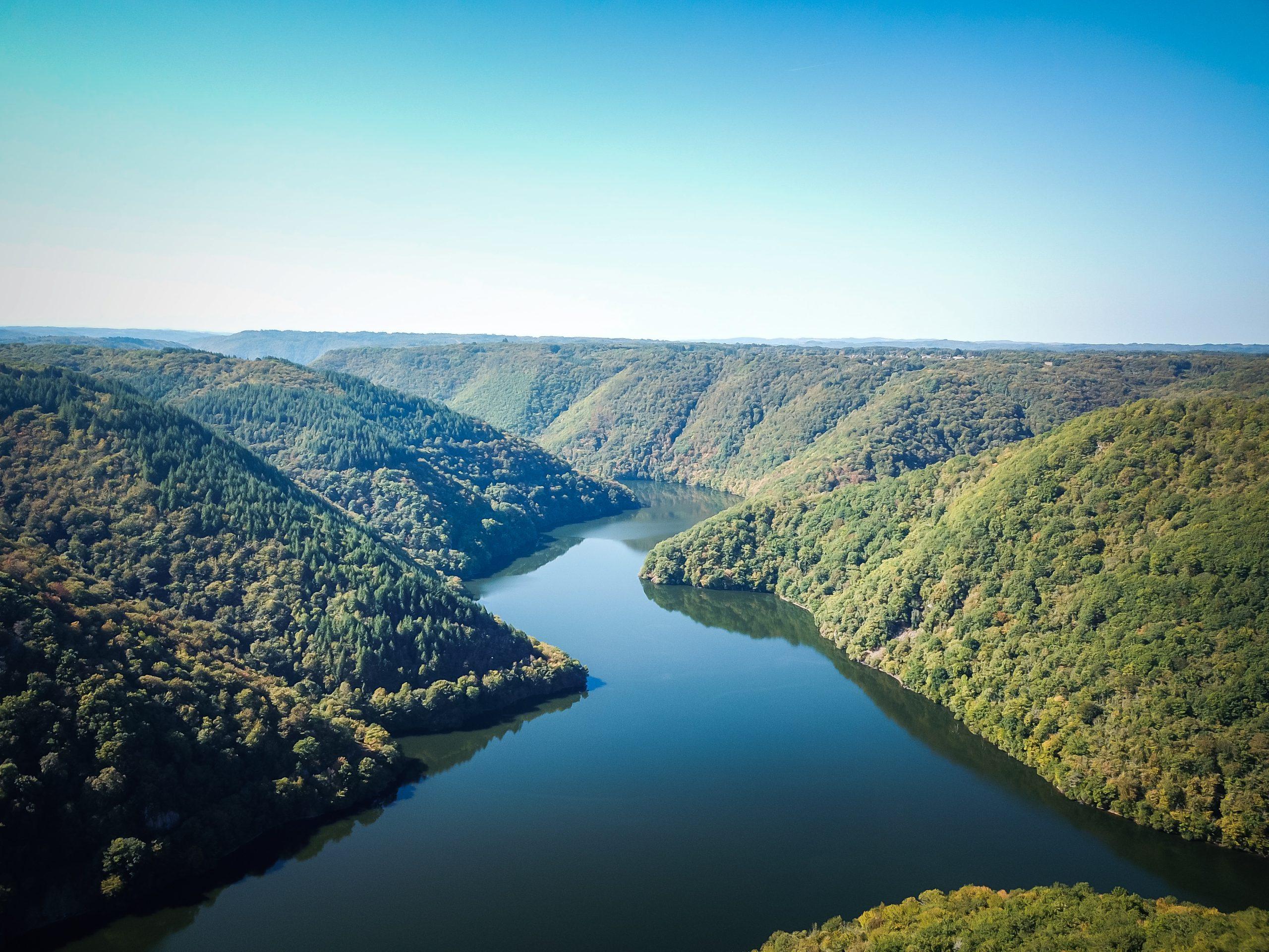 Les Gorges de la Dordogne vue en drône